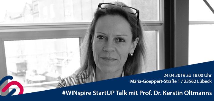 #WINspire StartUp Talk Banner mit Prof. Oltmanns