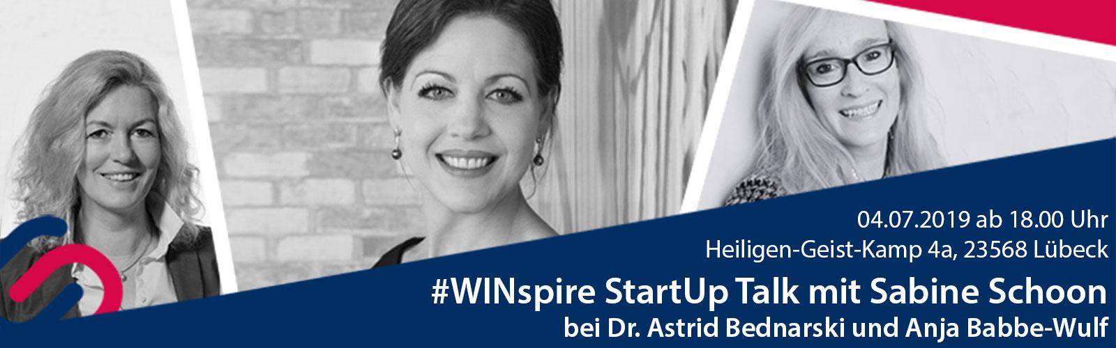 #WINspire StartUp Talk Banner mit Sabine Schoon