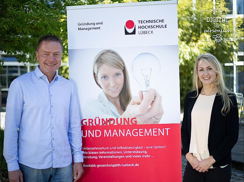Das erfolgreiche Projekt 'Female Entrepreneurship' am FB MW wurde von Prof. Dr. Jürgen Klein und Marleen Jennifer Wohlert initiiert. Foto: TH Lübeck